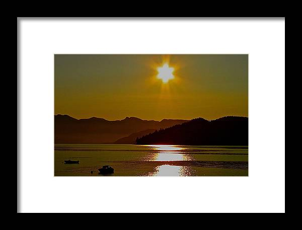 Fredericton Framed Print featuring the digital art Fredericton Sunset by Josie Boyce