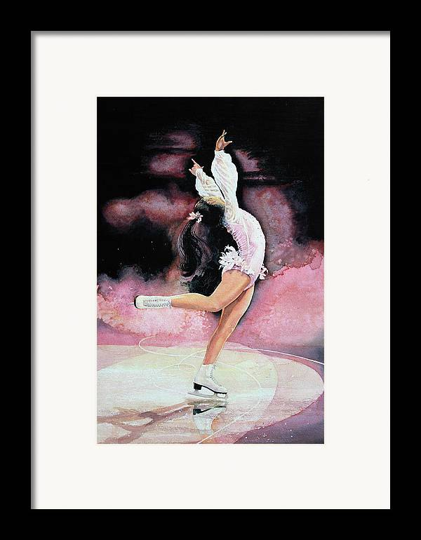 Skating Framed Print featuring the painting Free Spirit by Hanne Lore Koehler