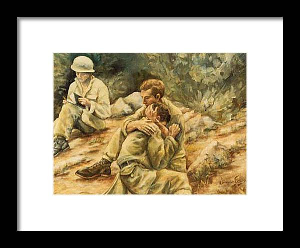 War Framed Print featuring the painting Freedom Isn't Free by Donna Tucker