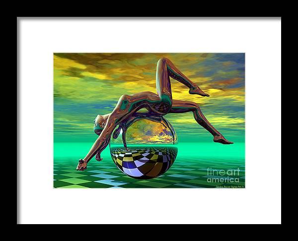 Bryce Framed Print featuring the digital art Freedom Of Expression by Sandra Bauser Digital Art