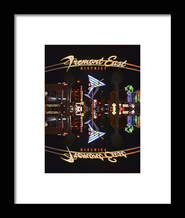 Fremont Framed Print featuring the photograph Fremont East 1 by Michael Anthony
