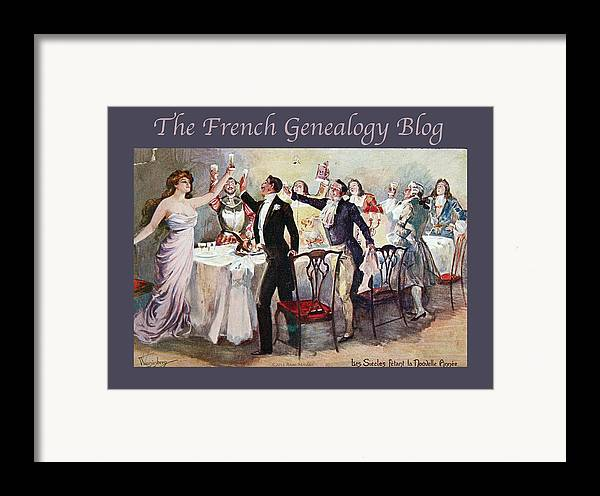 France Framed Print featuring the photograph French New Year With Fgb Border by A Morddel