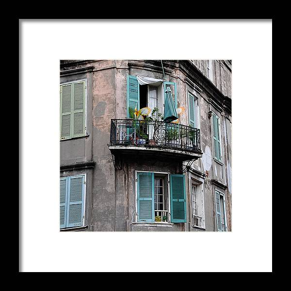 New Orleans Framed Print featuring the photograph French Quarter Balcony by Todd Hartzo