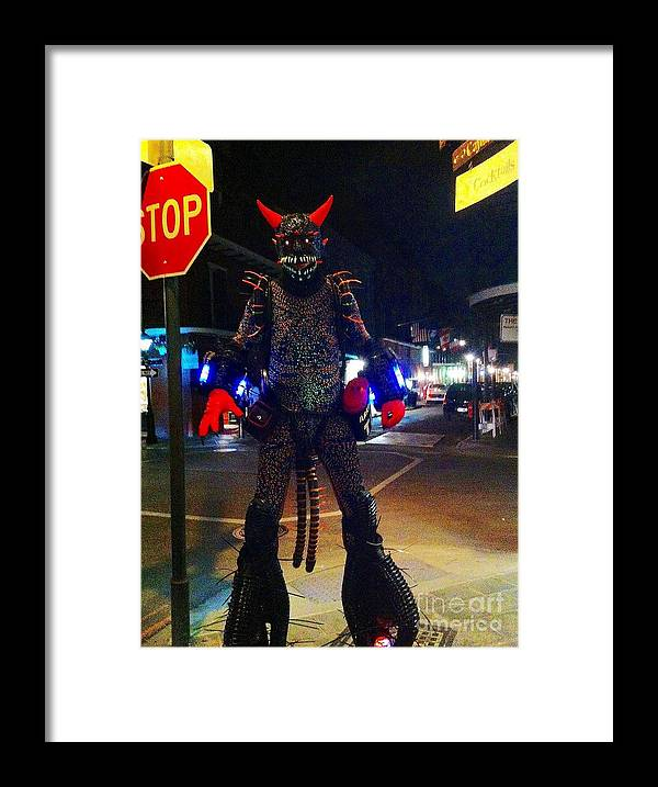 French Quarter Framed Print featuring the photograph French Quarter Monster by Saundra Myles