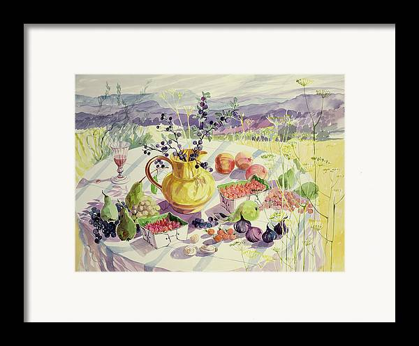 Flower Framed Print featuring the painting French Table by Elizabeth Jane Lloyd