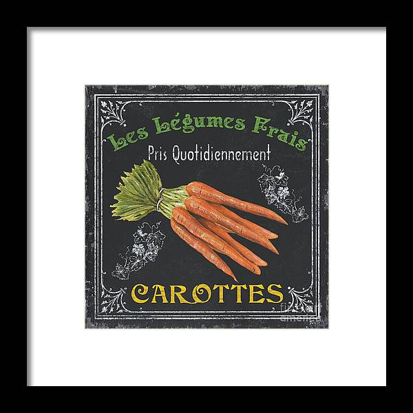 Produce Framed Print featuring the painting French Vegetables 4 by Debbie DeWitt