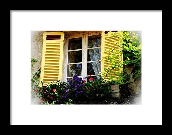 Window Framed Print featuring the photograph French Window Dressing by Jacqueline M Lewis