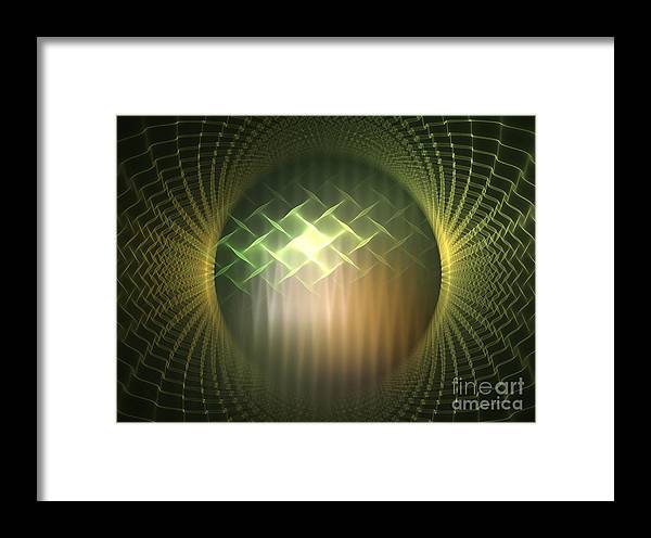 Apophysis Framed Print featuring the digital art Frequency Modulation by Kim Sy Ok