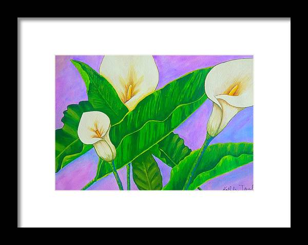 Flower Framed Print featuring the painting Fresh New Day by Kathleen Toval