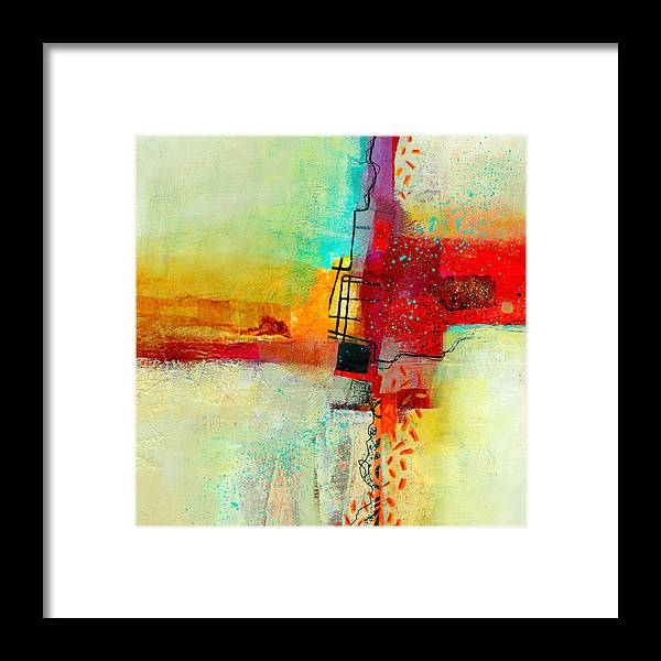 9x9 Framed Print featuring the painting Fresh Paint #2 by Jane Davies