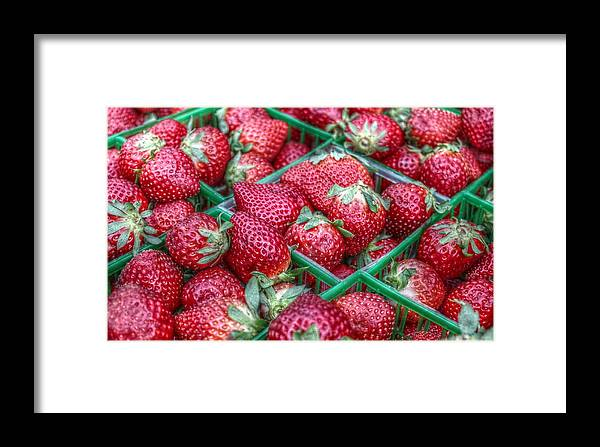 Strawberry Framed Print featuring the photograph Fresh Strawberries by Howard Markel
