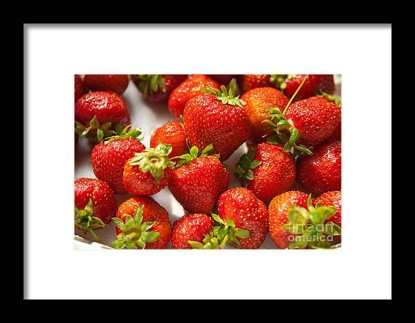 Fresh Framed Print featuring the photograph Fresh Strawberry by Boris Suntsov