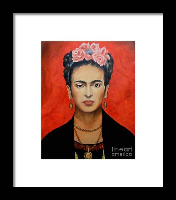 Frida Framed Print featuring the painting Frida Kahlo by Yelena Day
