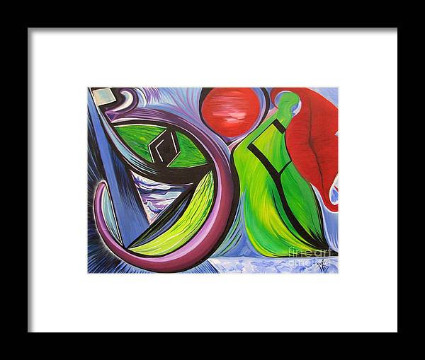 Abstract Framed Print featuring the painting Friday by Aimee Vance