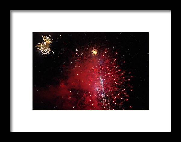 Fireworks Framed Print featuring the photograph Friday by Patricia Trudell