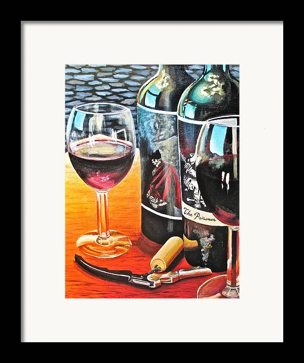 Wine Paintings Framed Print featuring the painting Friends From Napa by Tim Eickmeier