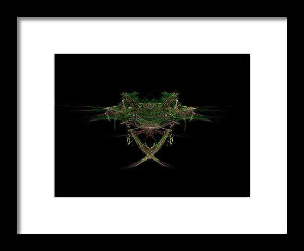 Frog Framed Print featuring the painting Frog Face by Bruce Nutting