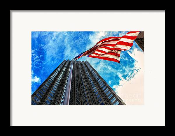 American Flag Framed Print featuring the photograph From A Different Perspective II by Rene Triay Photography