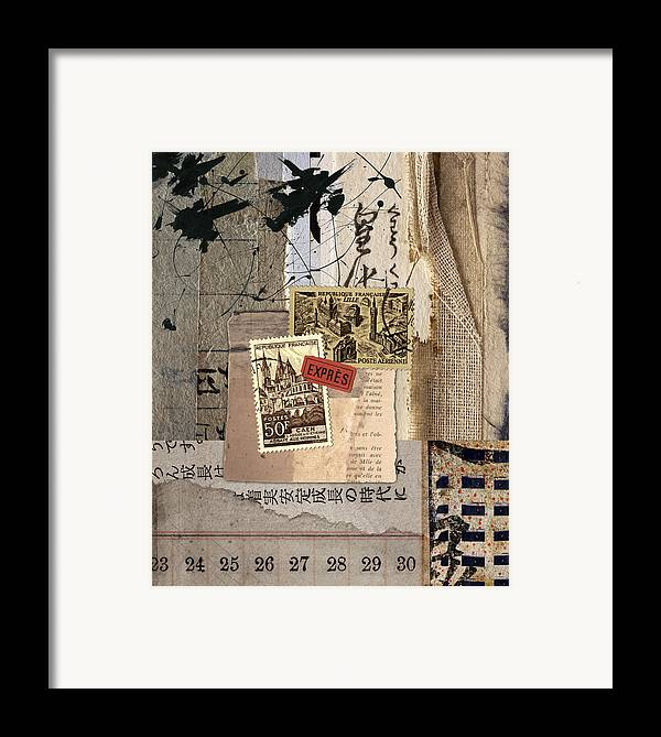 Collage Framed Print featuring the photograph From Books by Carol Leigh