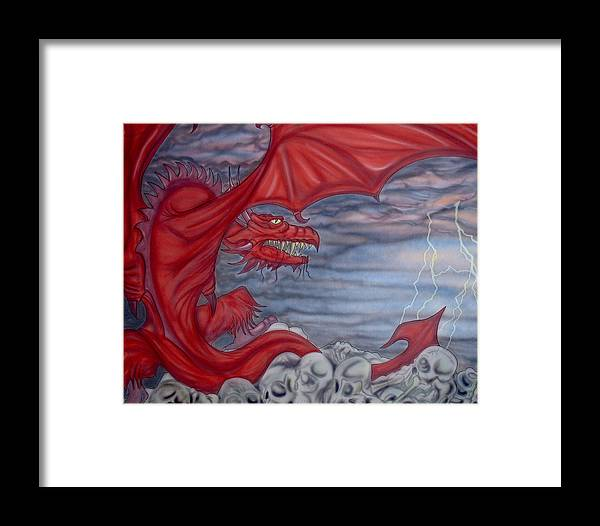 Air Brush Framed Print featuring the painting From Creation by Ryan Burton