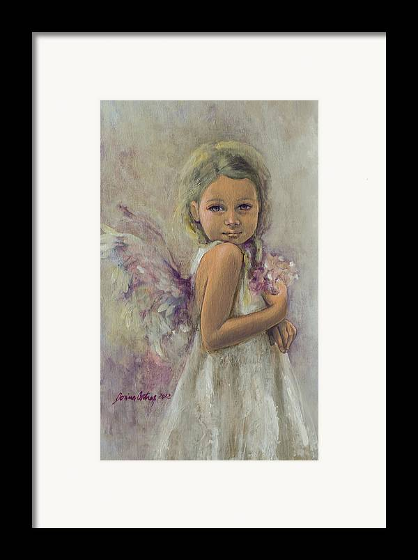 Art Framed Print featuring the painting From Heaven... by Dorina Costras