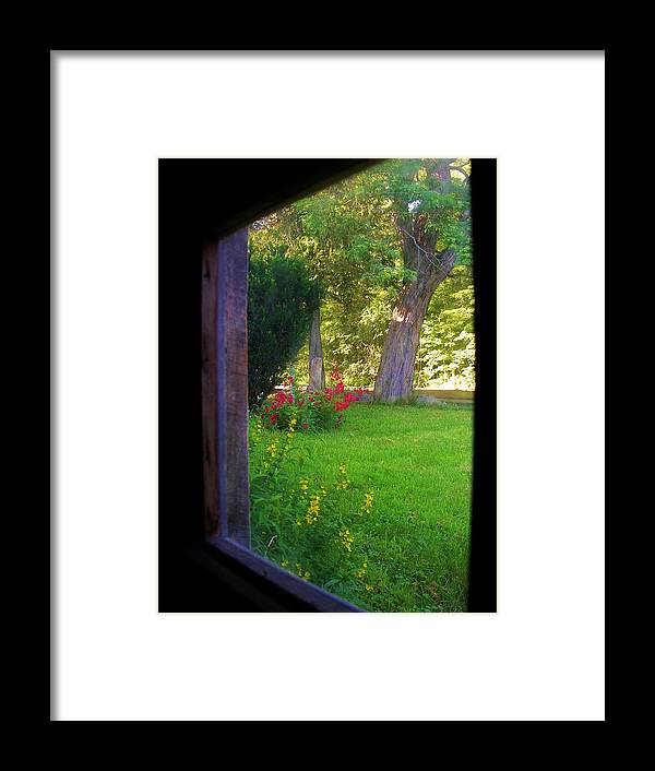 Looking Out Framed Print featuring the photograph From Inside Out by Sherman Perry