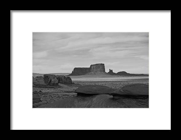 Monument Valley Framed Print featuring the photograph From Mystery Valley by Mike Herdering