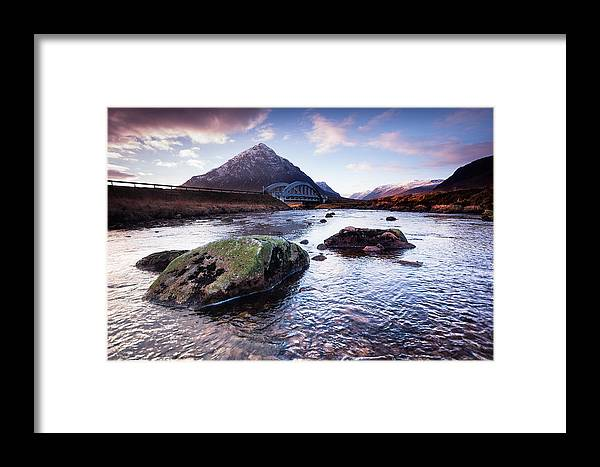 Buachaille Etvie Mor Framed Print featuring the photograph From River To Bauchaille by Keith Thorburn LRPS AFIAP CPAGB