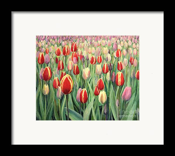 Art Framed Print featuring the painting From The Nature's Palette by Kiril Stanchev