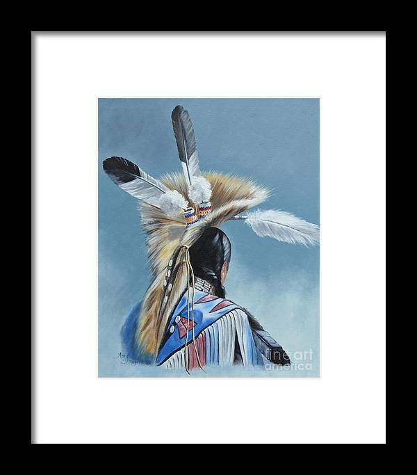 Headdress Framed Print featuring the painting From Within by Mary Rogers