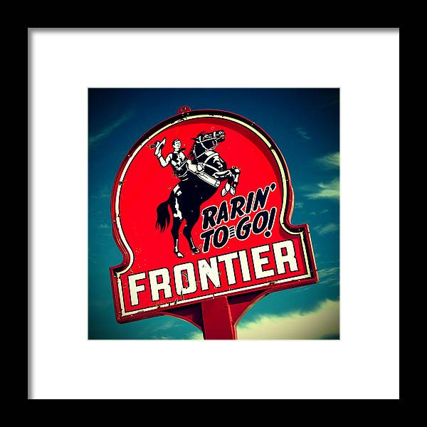 Old Signs Framed Print featuring the photograph Frontier Land by Tony Santo