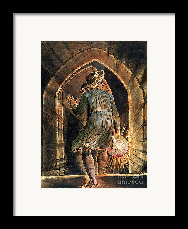 Front Page Framed Print featuring the painting Frontispiece To Jerusalem by William Blake