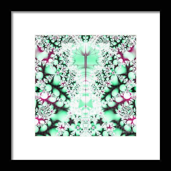 Frost On The Grass Fractal Framed Print featuring the digital art Frost On The Grass Fractal by Rose Santuci-Sofranko