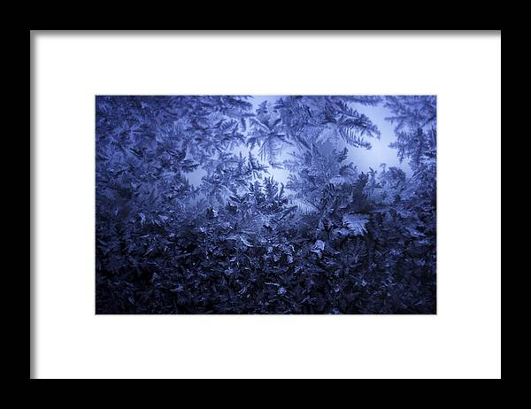 Ice Framed Print featuring the photograph Frost on window #3 by Nathan Seavey