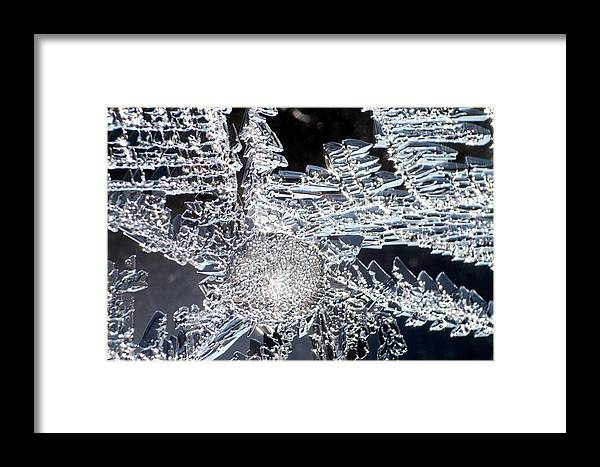 Abstract Framed Print featuring the photograph Frost Star by Ulrich Kunst And Bettina Scheidulin