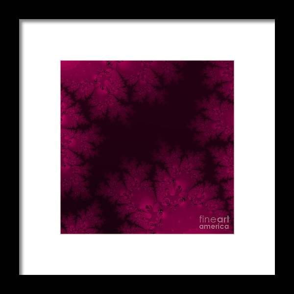 Frosty Fuchsia Fantasy Fractal Framed Print featuring the digital art Frosty Fuchsia Fantasy Fractal by Rose Santuci-Sofranko