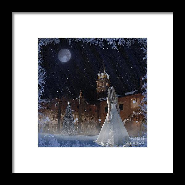 Frosted Girl Framed Print featuring the digital art Frozen by Betta Artusi