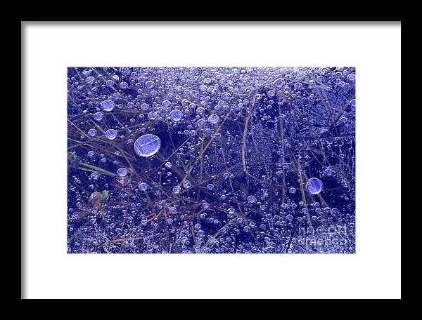 North America Framed Print featuring the photograph Frozen Bubbles In The Merced River Yellowstone Natioinal Park by Dave Welling