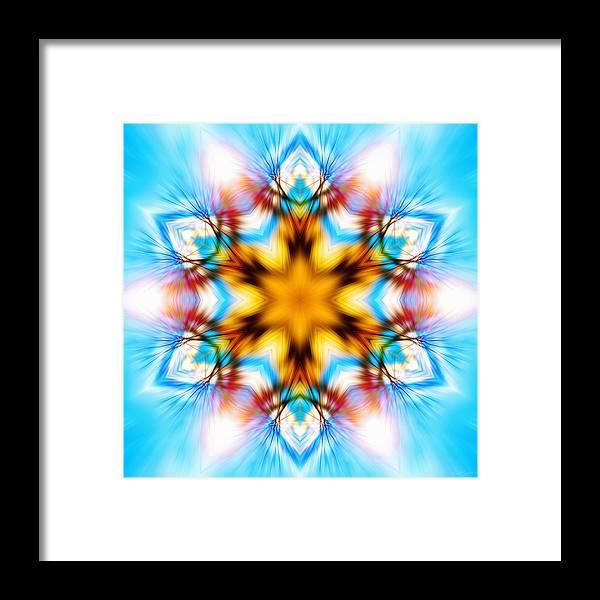Sacredlife Mandalas Framed Print featuring the photograph Frozen Clarity by Derek Gedney