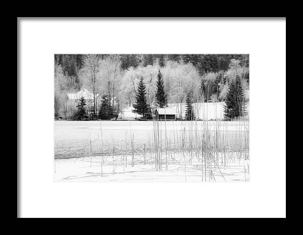Austria Framed Print featuring the photograph Frozen Lake by Christine Czernin-Morzin