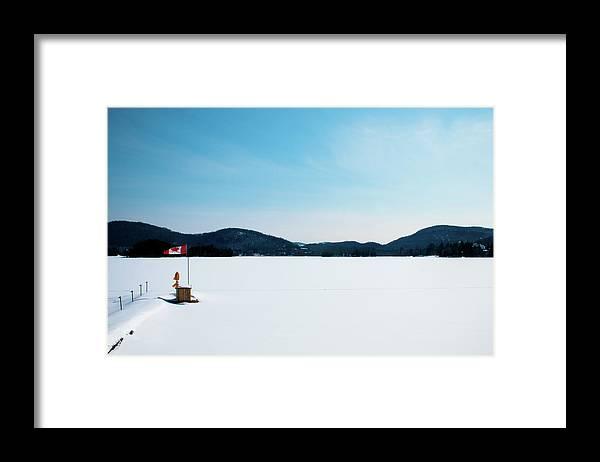 Scenics Framed Print featuring the photograph Frozen Lake In Canada by Haja Rasambainarivo