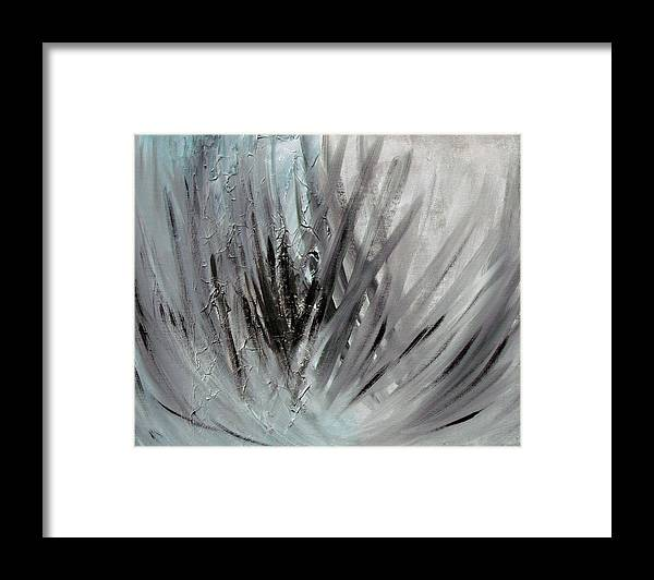 Abstract Framed Print featuring the painting Frozen by Sergey Bezhinets