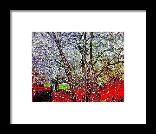 Frozen Framed Print featuring the photograph Frozen Sunday Time by Luis A Vera