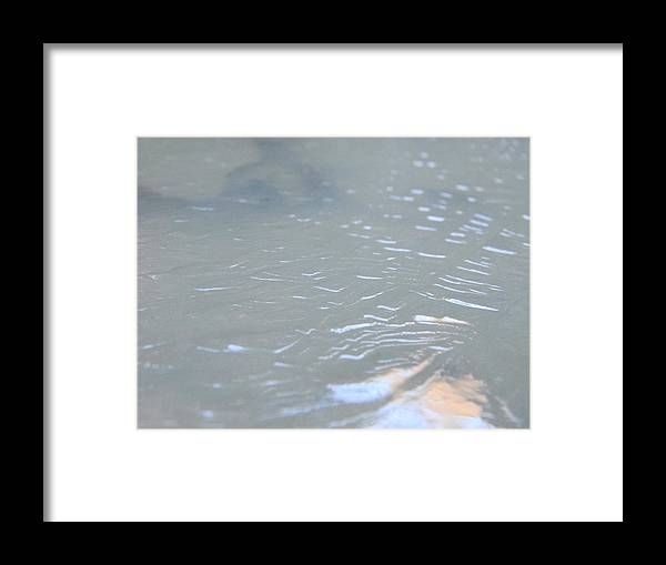Ice Framed Print featuring the photograph Frozen Tide. by Kenny Miksch