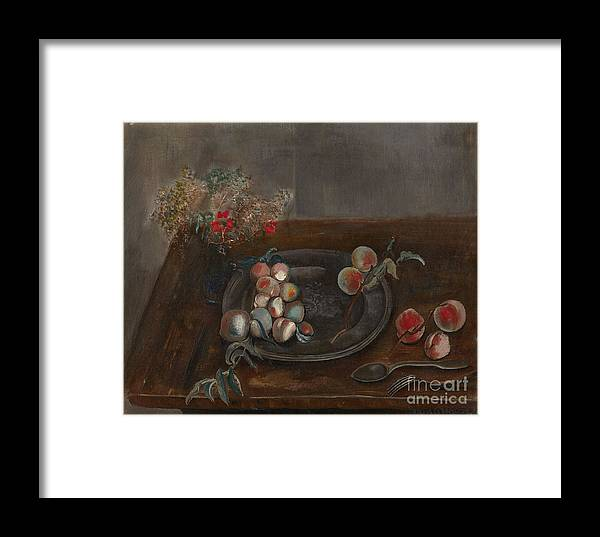 Russia Framed Print featuring the painting Fruit And Flowers On A Table by Celestial Images