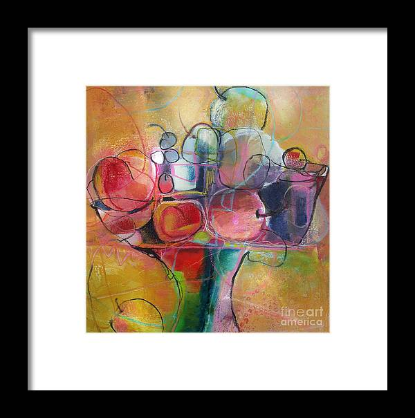 Watercolor Framed Print featuring the painting Fruit Bowl No.1 by Michelle Abrams