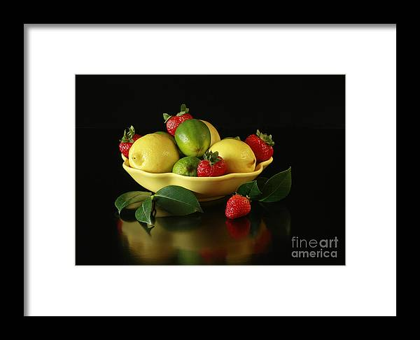 Fruit Explosion Framed Print featuring the photograph Fruit Explosion by Inspired Nature Photography Fine Art Photography