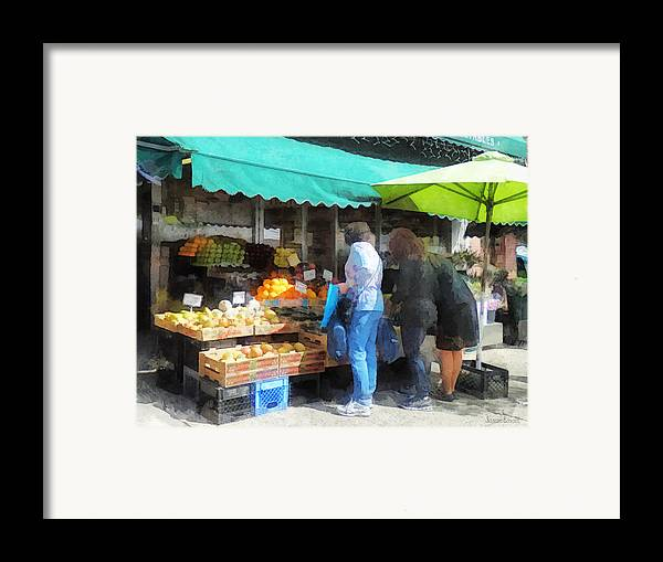 Fruit Framed Print featuring the photograph Fruit For Sale Hoboken Nj by Susan Savad
