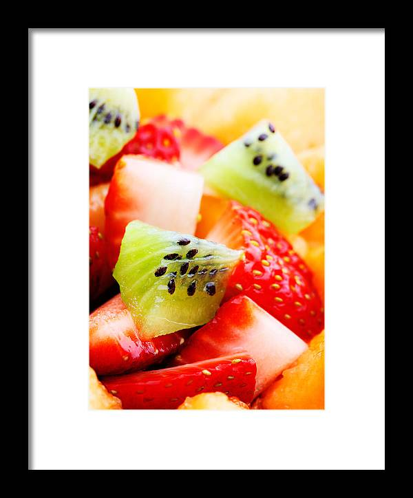 Fruit Framed Print featuring the photograph Fruit Salad Macro by Johan Swanepoel