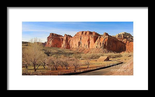 Fruita Utah Framed Print featuring the photograph Fruita Utah Panorama 002 by Jack Schultz
